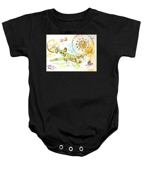 Running Out Of Time Baby Onesie