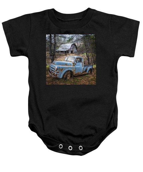 Rusty Blue Dodge Baby Onesie