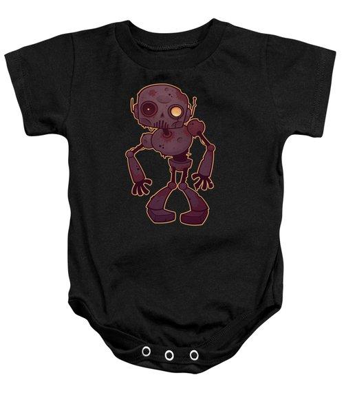 Rusty Zombie Robot Baby Onesie