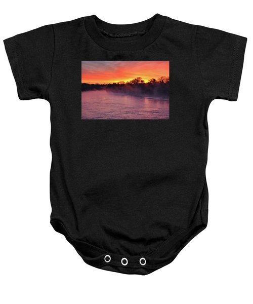 Sacramento River Sunrise Baby Onesie