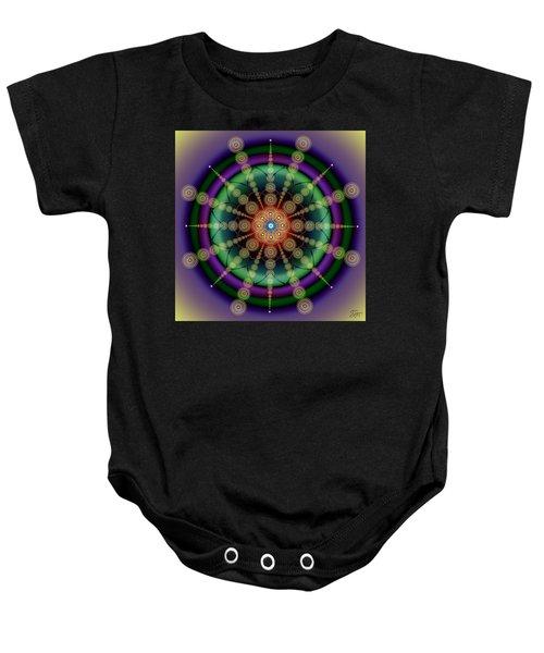Sacred Geometry 652 Baby Onesie