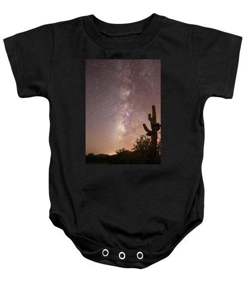 Saguaro Cactus And Milky Way Baby Onesie