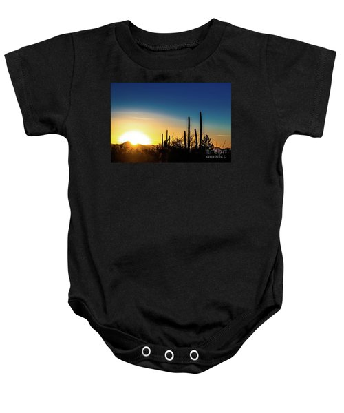 Saguaro Sunset Baby Onesie
