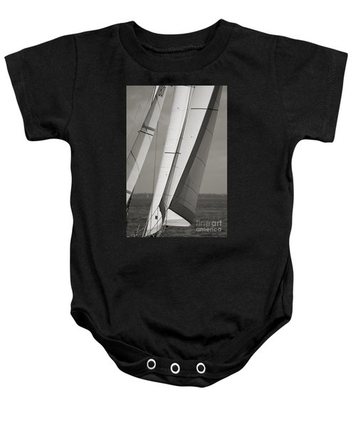 Sails Of A Sailboat Sailing Baby Onesie