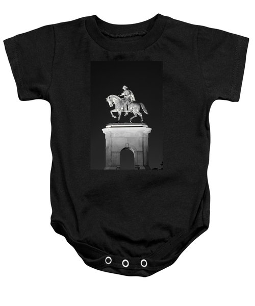 Sam Houston - Black And White Baby Onesie