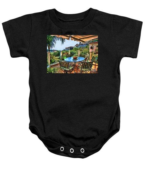 San Clemente Estate Patio Baby Onesie