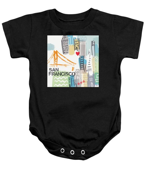 San Francisco Cityscape- Art By Linda Woods Baby Onesie