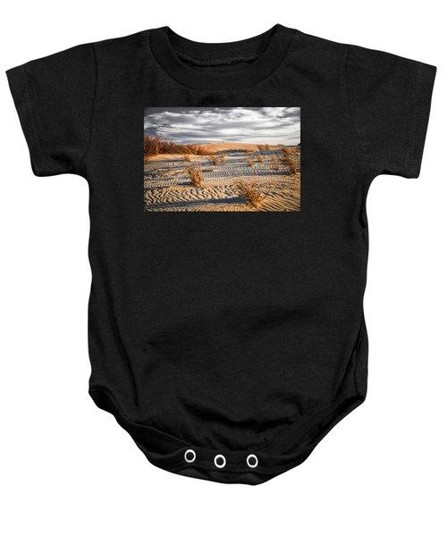 Sand Dune Wind Carvings Baby Onesie