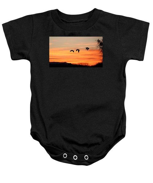 Sandhill Sunrise 2 Baby Onesie