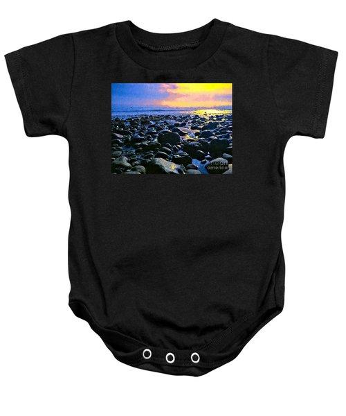 Santa Barbara Beach Sunset California Baby Onesie