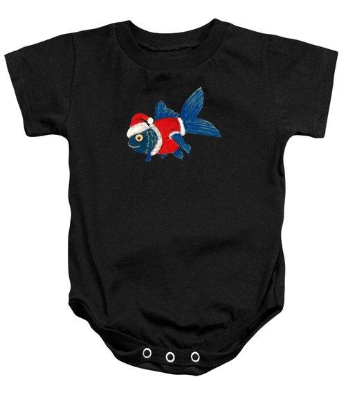 Santa Fish Baby Onesie