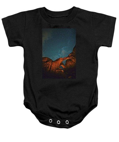 Satellites Crossing In The Night Baby Onesie