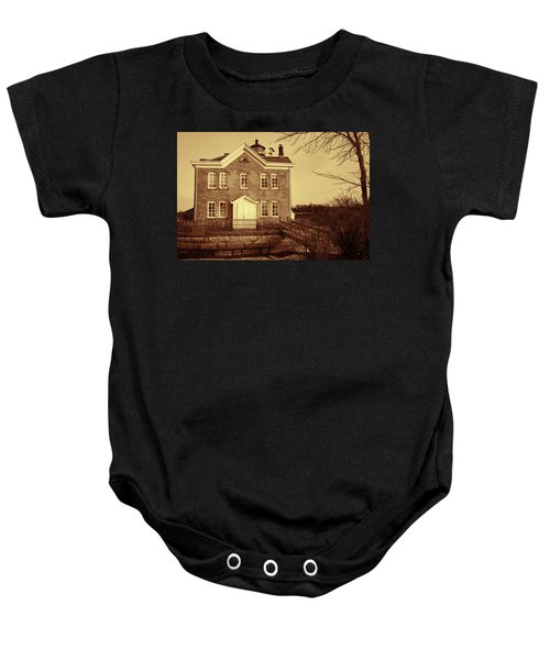 Saugerties Lighthouse Sepia Baby Onesie