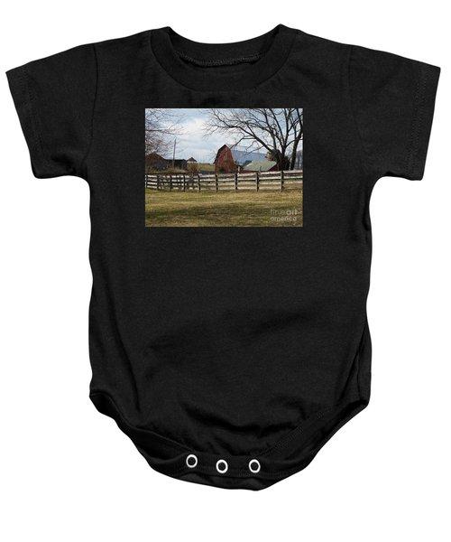 Scene On The Farm Baby Onesie