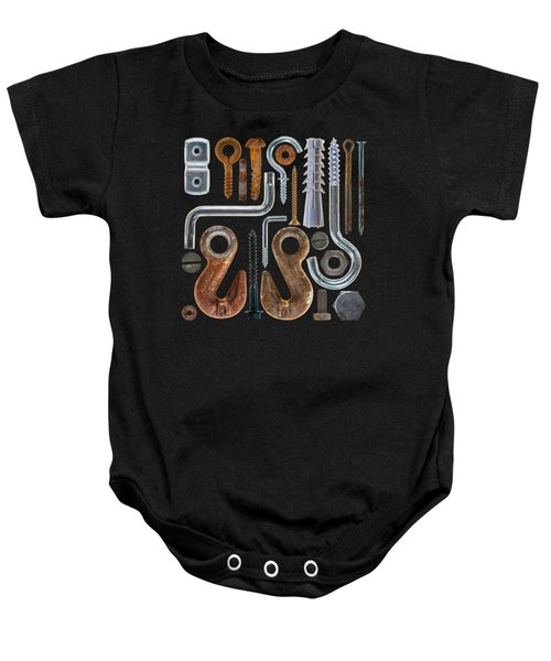 Screws, Nut Bolts, Nails And Hooks Baby Onesie