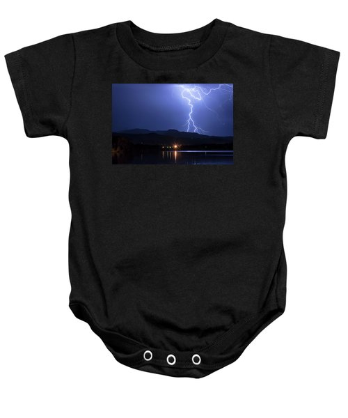 Baby Onesie featuring the photograph Scribble In The Night by James BO Insogna