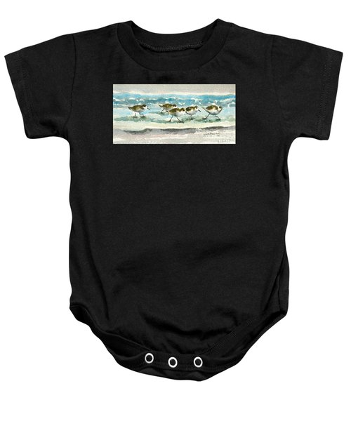 Scurrying Along The Shoreline 2  1-6-16 Baby Onesie