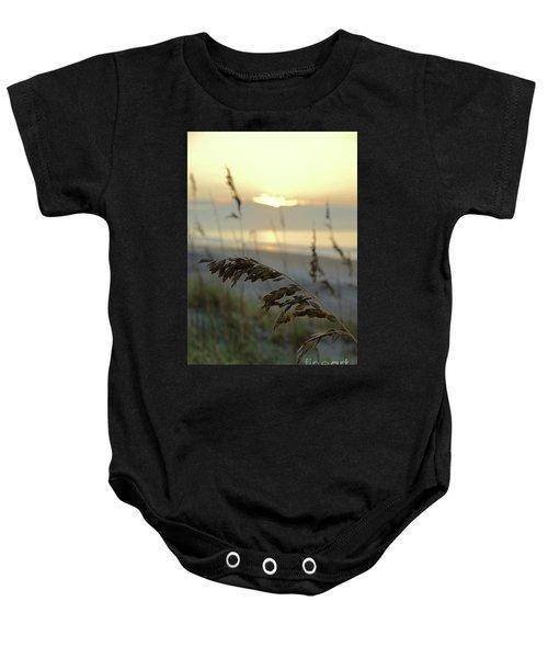 Sea Oats At Sunrise Baby Onesie