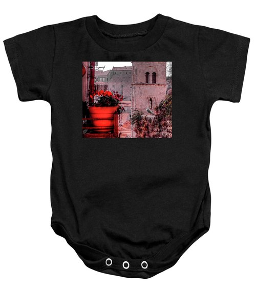 Seagull Admiring The View Baby Onesie