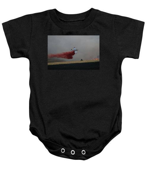 Seat Drops On Indian Canyon Fire Baby Onesie