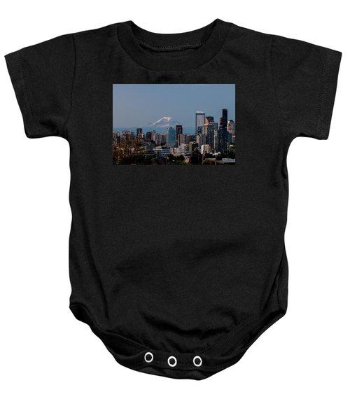 Seattle-mt. Rainier In The Morning Light .1 Baby Onesie