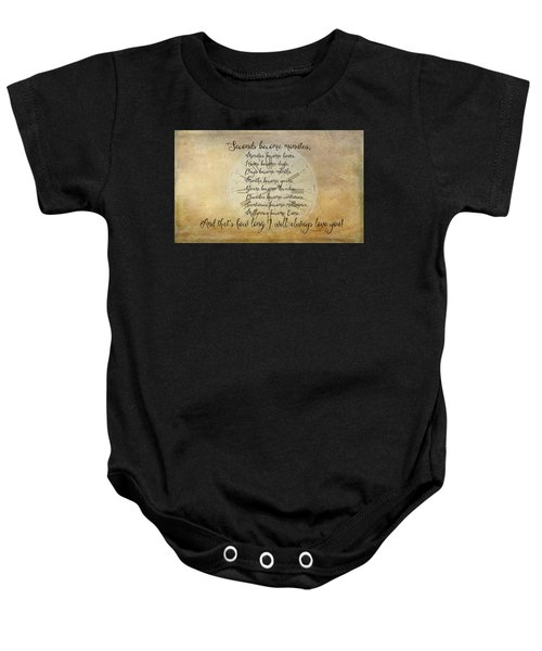 Seconds Become Eons Baby Onesie