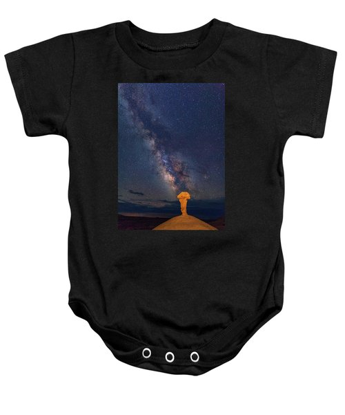 Secret Spire And The Milky Way Vertical Baby Onesie