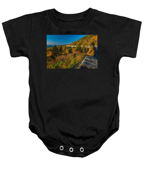 Seize The Day At Linn Cove Viaduct Autumn Baby Onesie