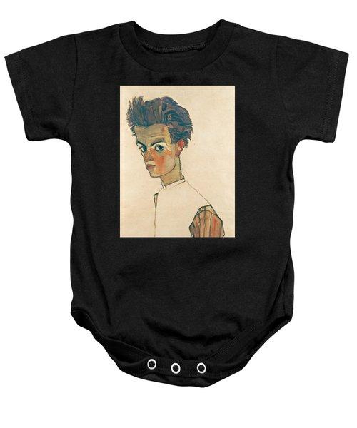 Self-portrait With Striped Shirt Baby Onesie