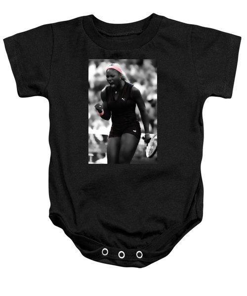 Serena Williams On Fire Baby Onesie by Brian Reaves