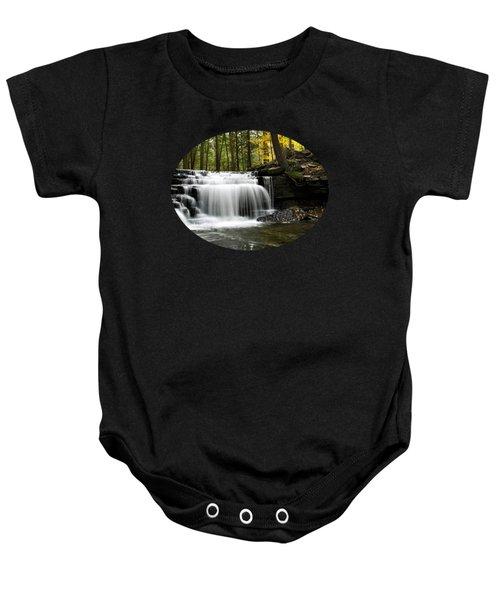 Serenity Waterfalls Landscape Baby Onesie