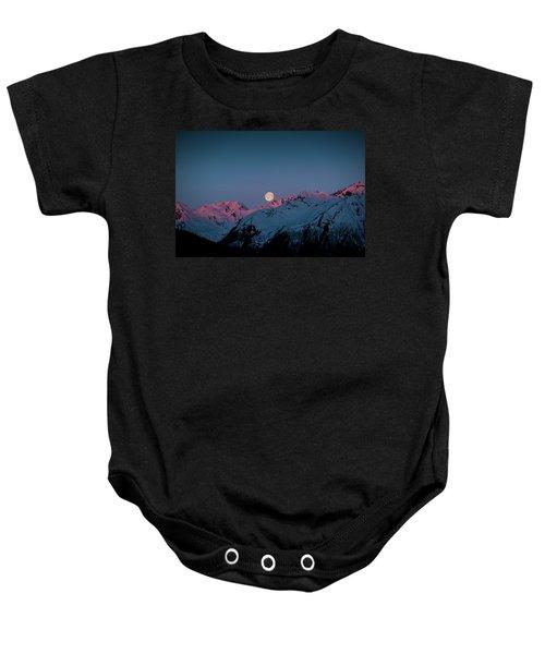 Setting Moon Over Peaks IIi Baby Onesie