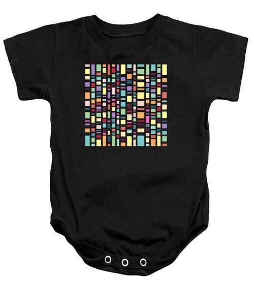 Seventeen Pattern Dark Baby Onesie