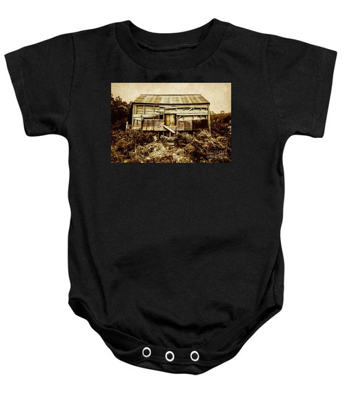 Shabby Country Cottage Baby Onesie