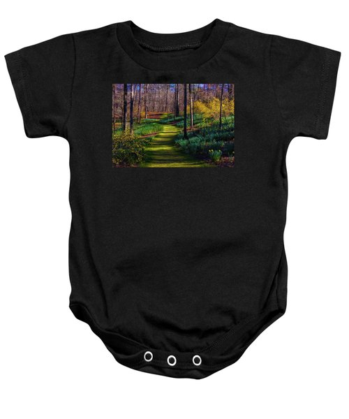 Shaded Spring Stroll Baby Onesie