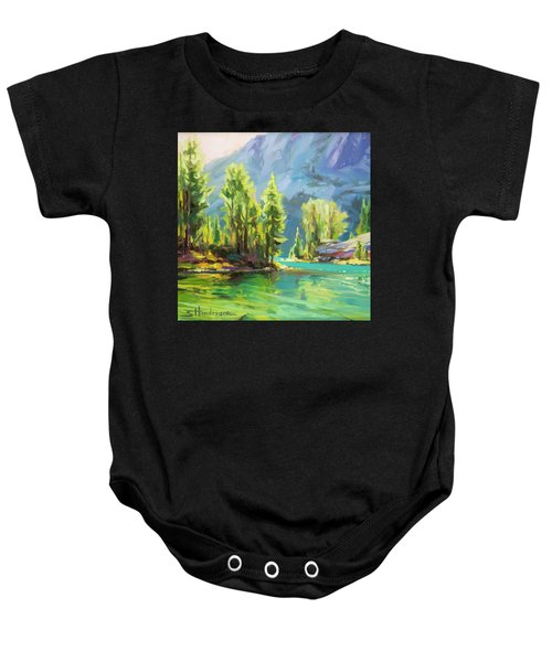 Shades Of Turquoise Baby Onesie