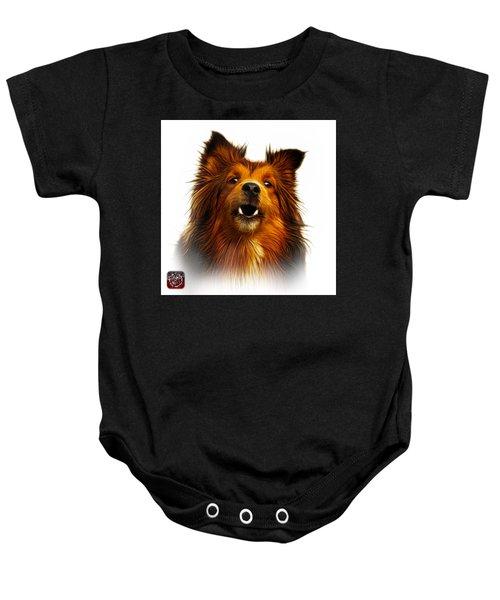 Sheltie Dog Art 0207 - Wb Baby Onesie