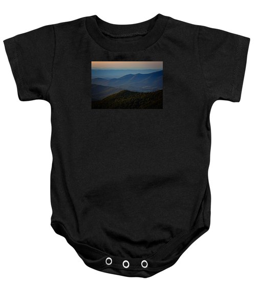 Shenandoah Valley At Sunset Baby Onesie