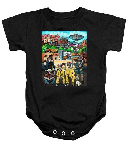 Shooting Stars In New Mexico Baby Onesie
