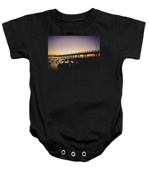 Shorncliffe Pier At Dawn Baby Onesie