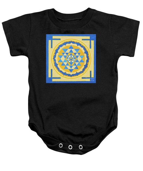 Shri Yantra For Meditation Painted Baby Onesie