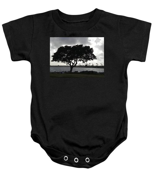 Silhouette Of Tree Baby Onesie