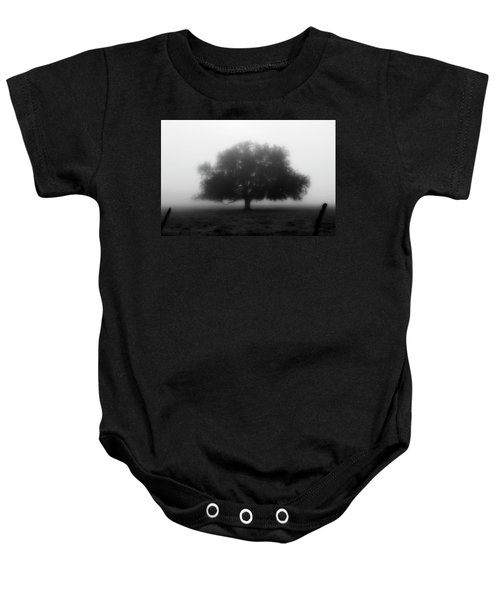 Silhouette Of Tree In Field Baby Onesie