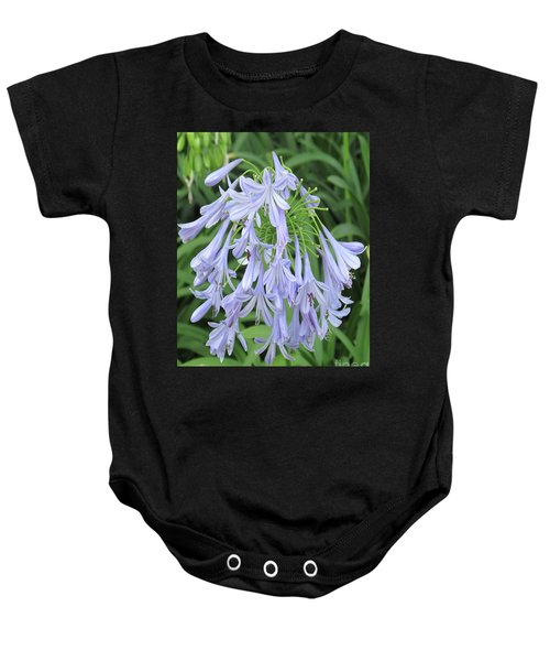Silky Blue Blossoms Baby Onesie