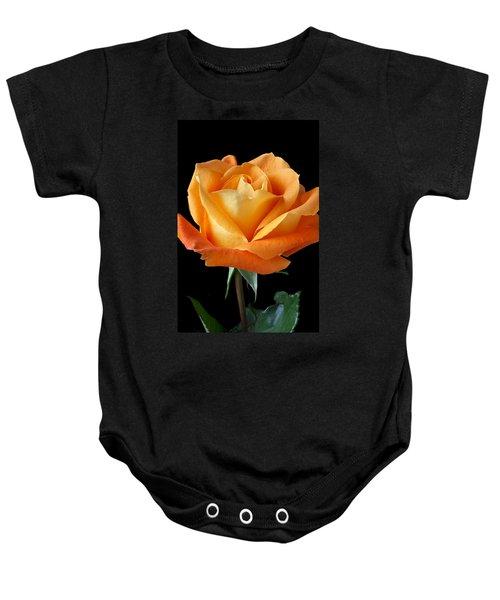 Single Orange Rose Baby Onesie