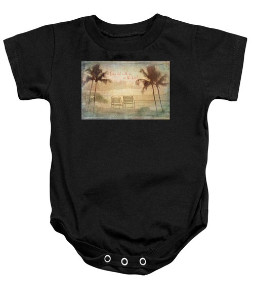 Sit With Me On The Beach Baby Onesie