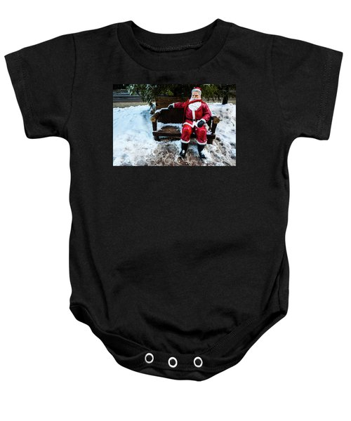 Sit With Santa Baby Onesie