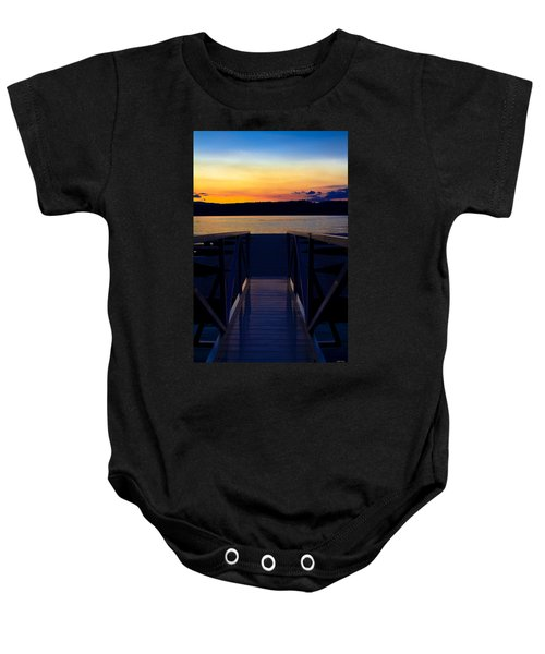 Sitting On The Dock Of A Bay Baby Onesie