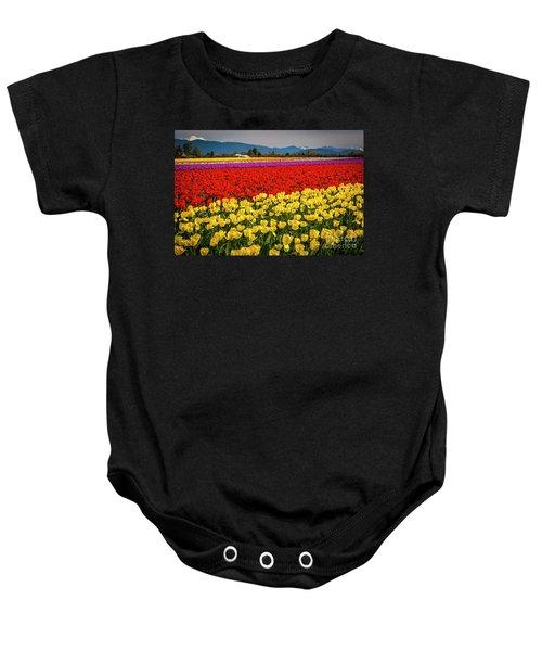 Skagit Valley Tulips  Baby Onesie