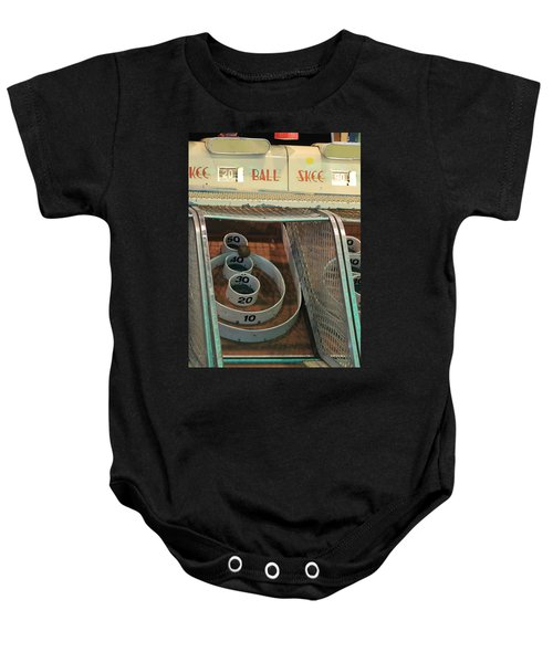 Skee Ball At Marty's Playland Baby Onesie